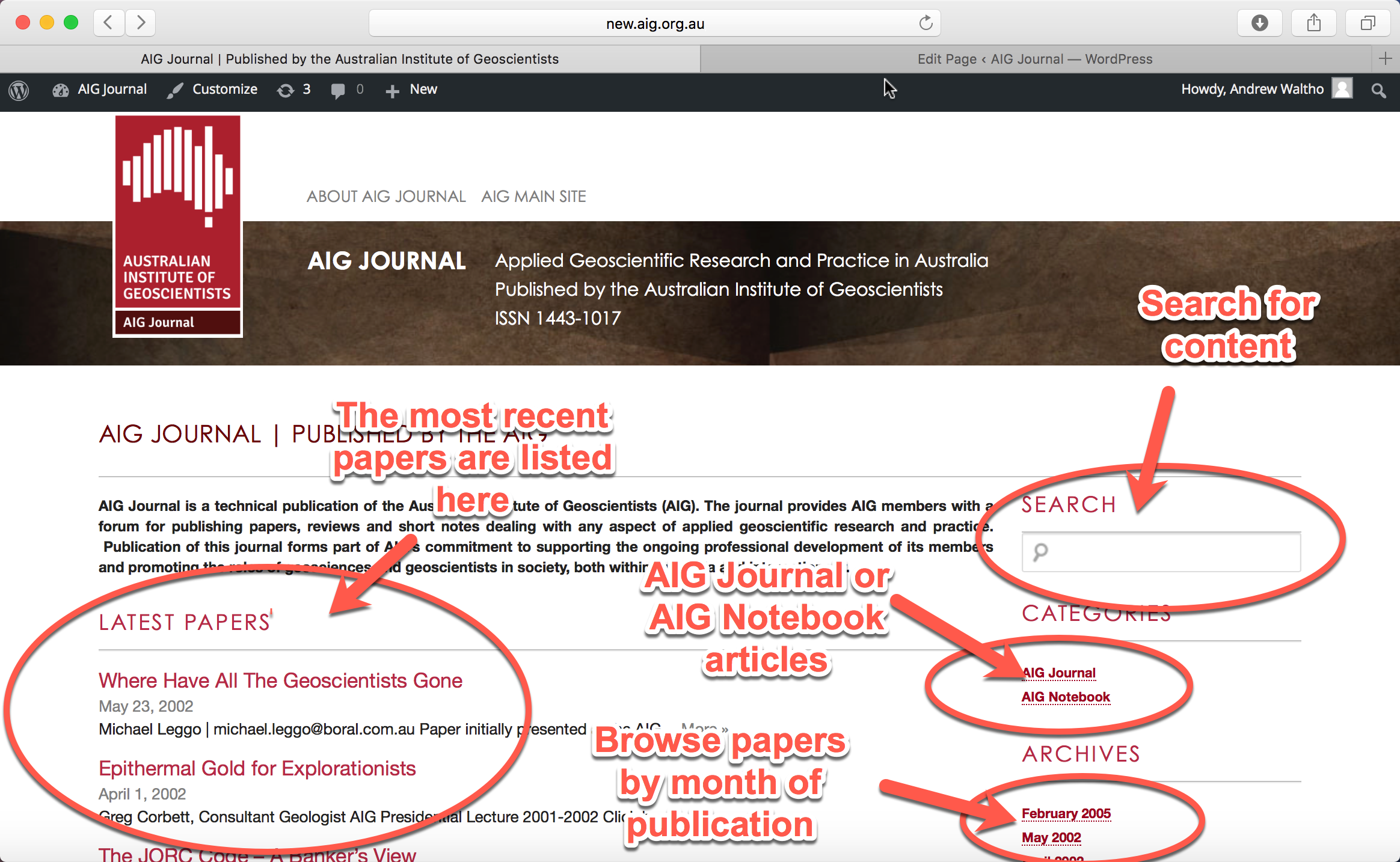 AIG Journal Home Page